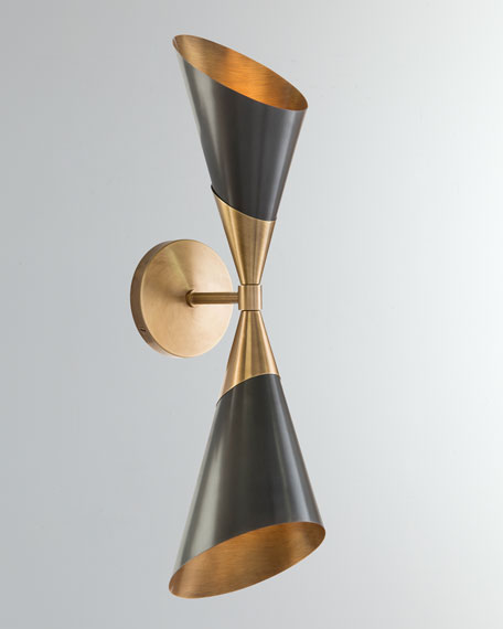 Mid-Century Two-Light Sconce