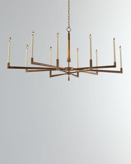 Modern 10-Light Chandelier