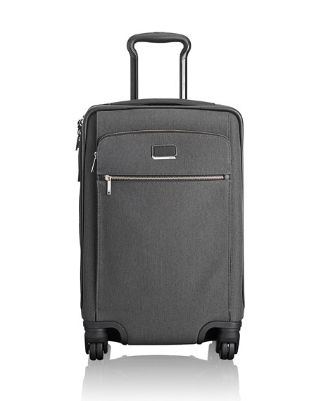 Larkin Sam International Expandable 4-Wheel Carry-On Luggage in Anthracite/Black