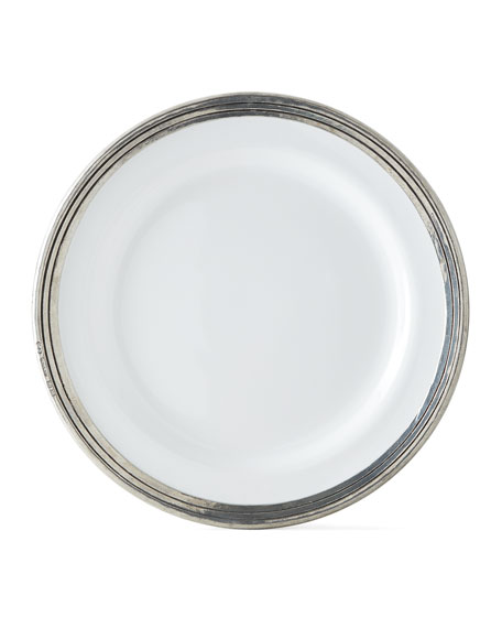 Neiman Marcus Pewter and Ceramic Dinner Plate