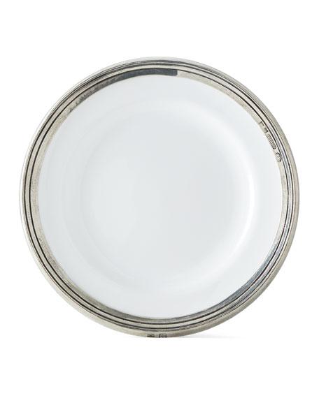 ValPeltro Pewter and Ceramic Dessert Plate