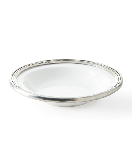 ValPeltro Pewter and Ceramic Soup Bowl