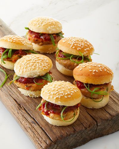 Mini Spicy Turkey Burgers