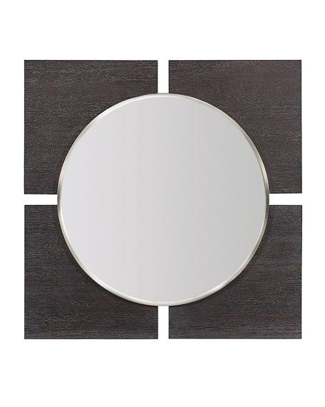Decorage 4-Panel Round Mirror