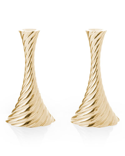 Twist Candleholders, Set of 2