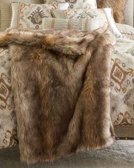 Carte Le Blanche Faux-Fur Throw