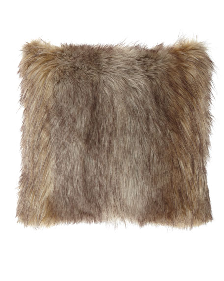 Carte Le Blanche Wolf Faux-Fur Boutique Pillow