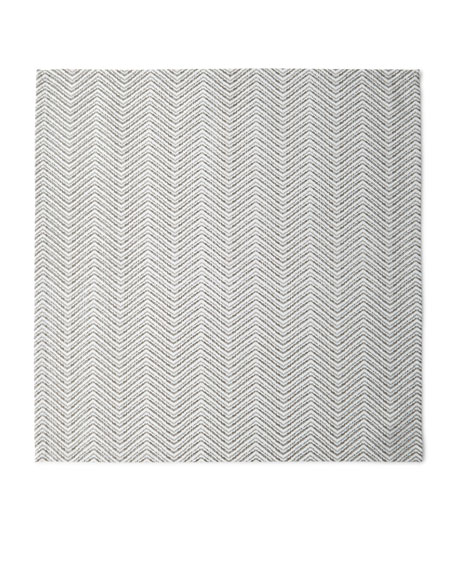 Kim Seybert Drift Zigzag Napkin, White/Silver/Gold and Matching
