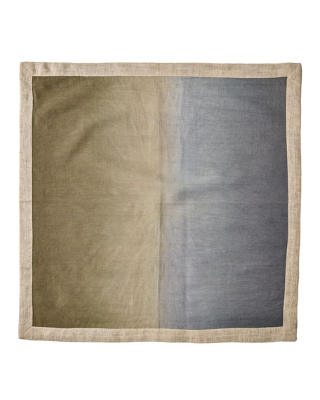 Kim Seybert Dip-Dye Linen Napkin, Neutral and Matching