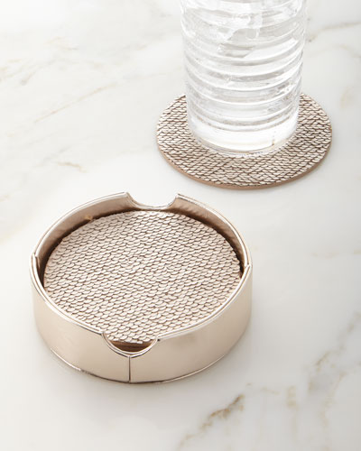 Reversible Sequin Coasters  6-Piece Set