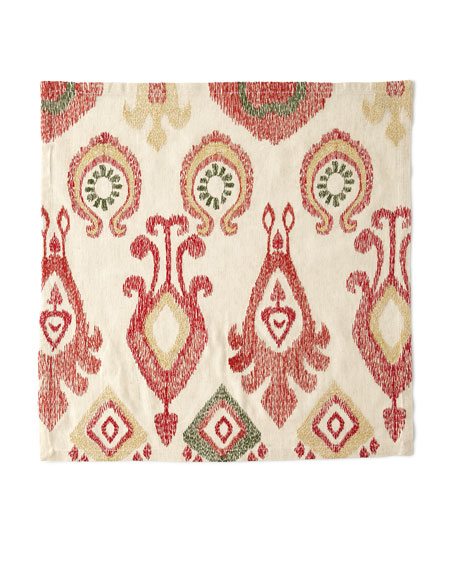 Marrakech Napkin, Natural/Red/Gold