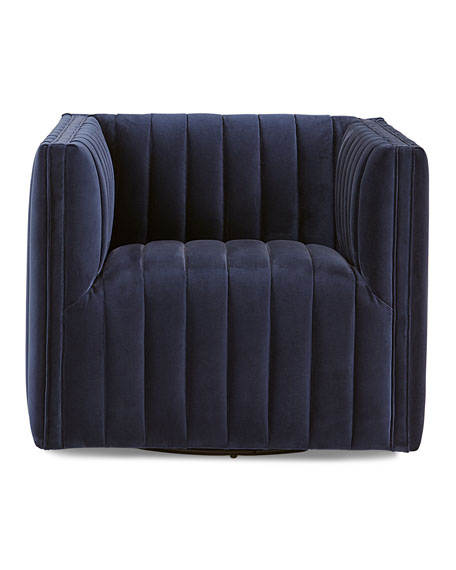 Buxton Channel Tufted Swivel Chair