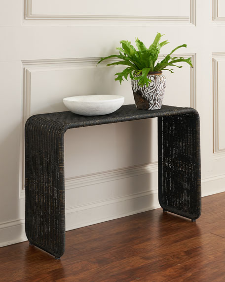 Calvin Rattan Console Table