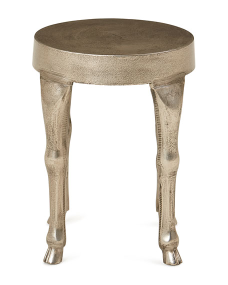 Mustang Nickel-Finish End Table