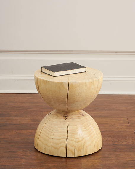 Warwick Curved Wood End Table