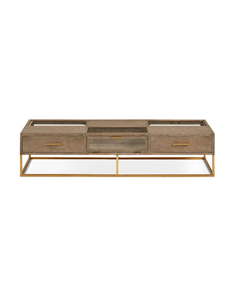 Wayland Wood & Metal Coffee Table