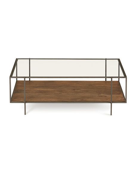 Troye Metal & Glass Coffee Table
