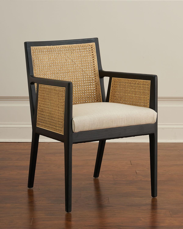 & Callie Cane Dining Arm Chair   Neiman Marcus