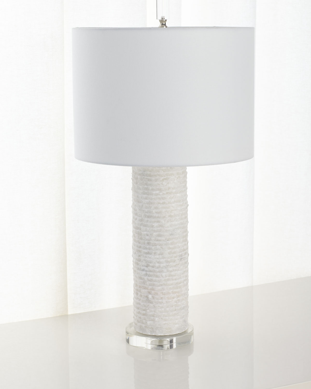 White Marble Table Lamp Neiman Marcus