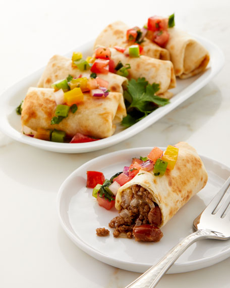 Culinaire Beef and Bean Burritos, Set of 6