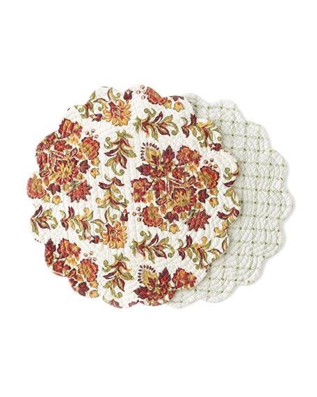 C & F Enterprises Agnes Round Placemats, Set