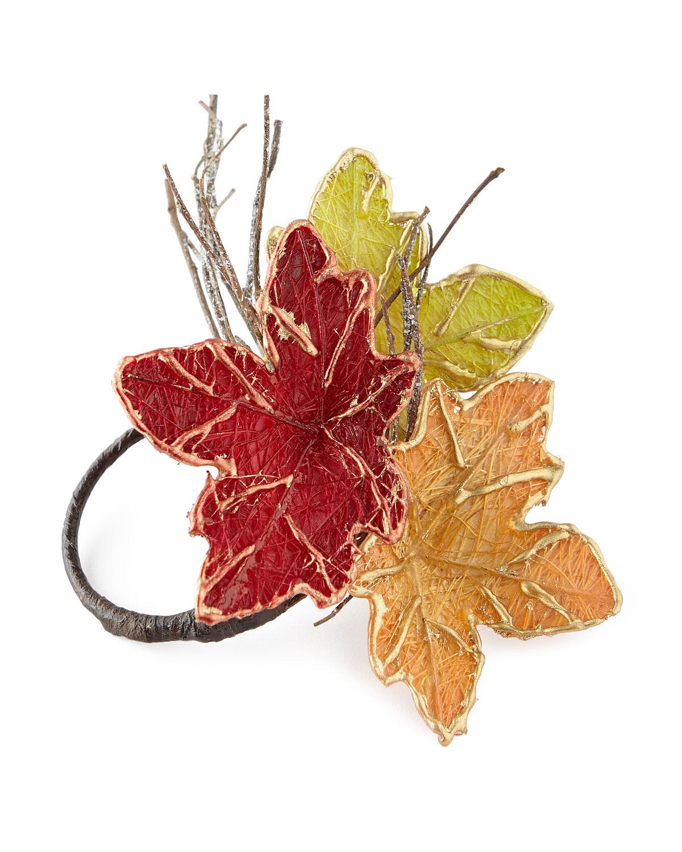 c f enterprises autumn leaf napkin rings set of 4 neiman marcus
