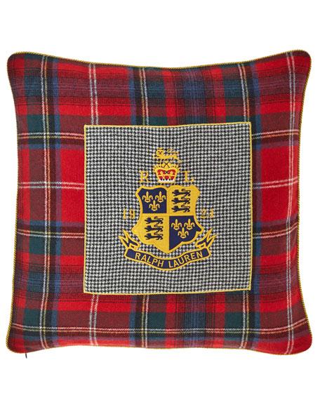 Ralph Lauren Home Queensbury Crest Decorative Pillow