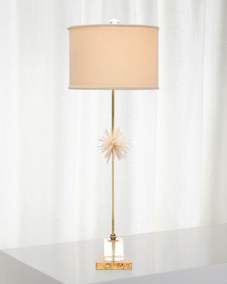 Crystal & Brass Buffet Lamp