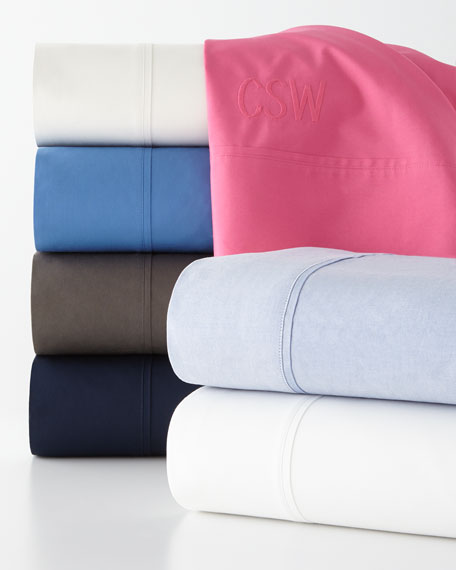 Two Standard 464 Thread Count Percale Pillowcases