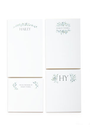 Carlson Craft Greenery Swag Personalized Notepad Set