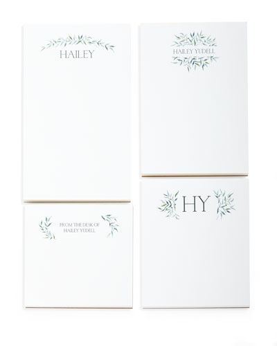 Greenery Swag Personalized Notepad Set