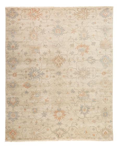 Mykia Hand-Knotted Oushak Rug, 6' x 9'