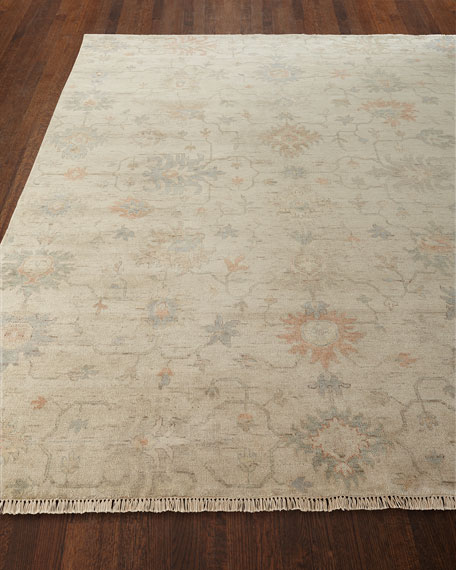 Mykia Hand-Knotted Oushak Rug, 10' x 14'