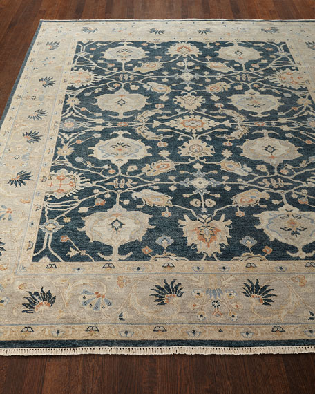 Estevan Hand-Knotted Oushak Rug, 4' x 6' and