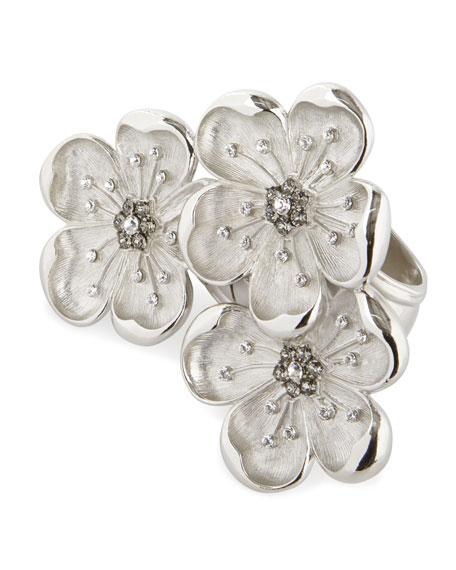 Nomi K Flower Trio Napkin Ring