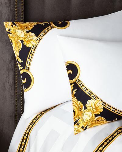 Standard Greek Key Pillowcase Pair