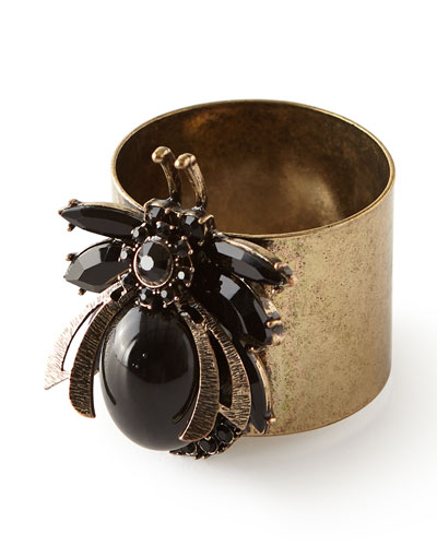 Vintage-Inspired Bug Napkin Rings, Set of 2