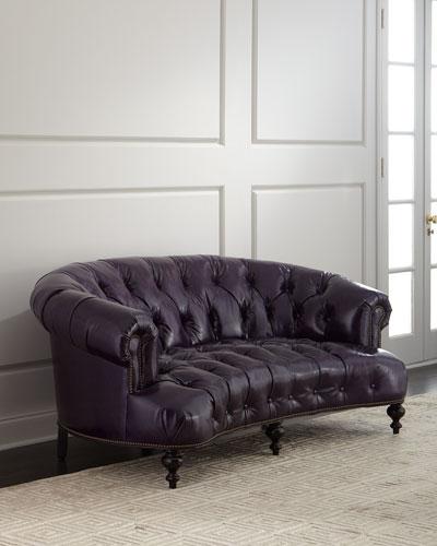 Iolanthe Tufted Leather Sofa