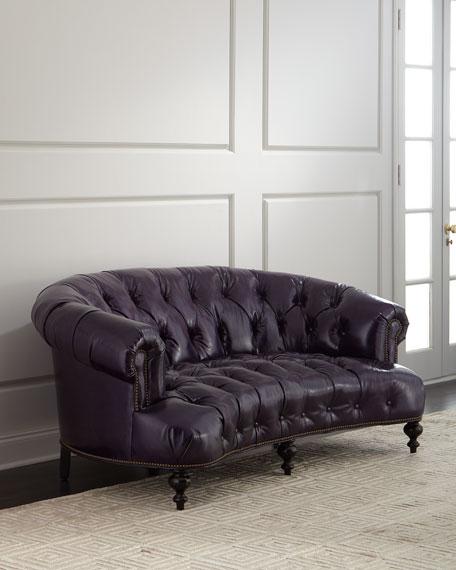 """Iolanthe Tufted Leather Sofa 71"""""""
