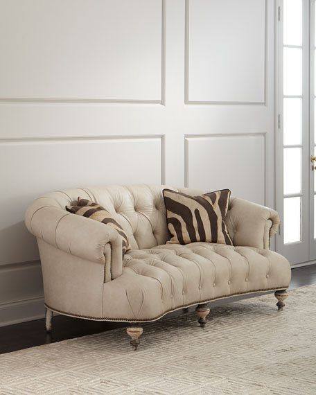 Xantha Tufted Leather Sofa 71""