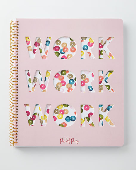 Packed Party WORK WORK WORK Notebook