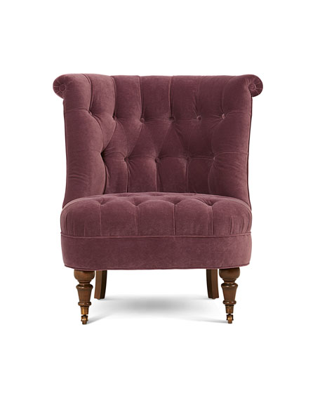 Shannon Tufted-Velvet Accent Chair