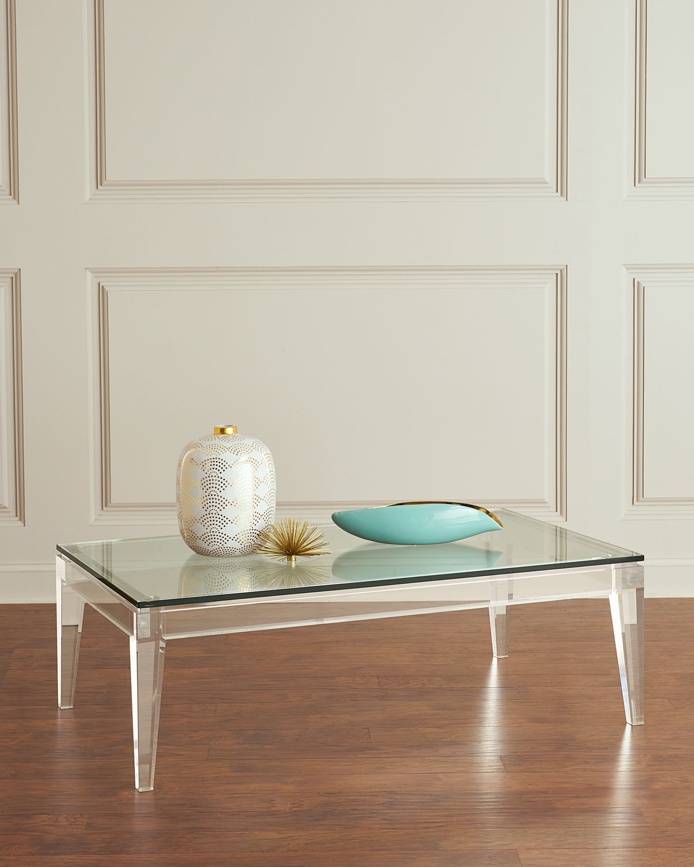 Interlude Acrylic Coffee Table: Interlude Home Teighlor Acrylic Coffee Table