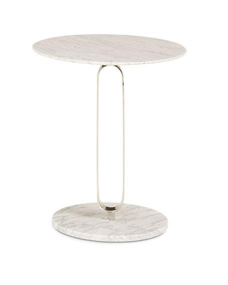 Marengo Nickel Side Table