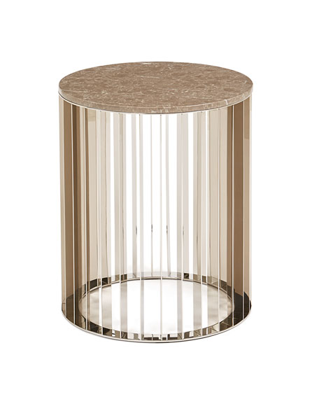 Roxette Marble-Top Side Table