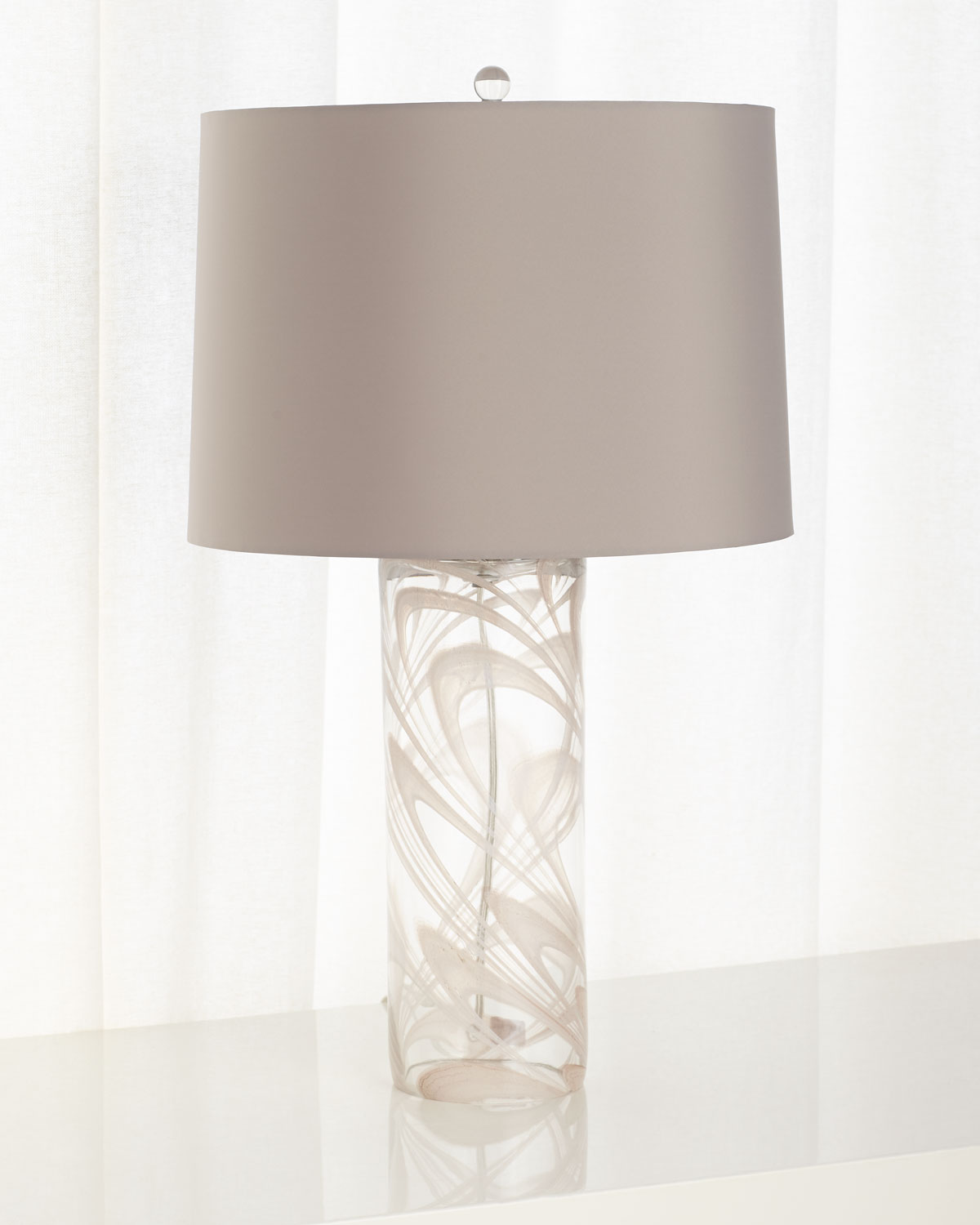 Narissa Gl Table Lamp With Drum Shade