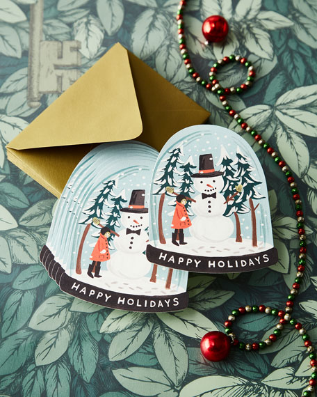 "Snow Globe ""Happy Holidays"" Cards"