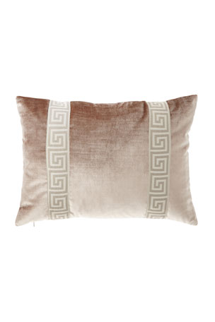 Brown//Silver 17 x 17 Violet Linen Signature Jacquard Lily Design Cushion Cover