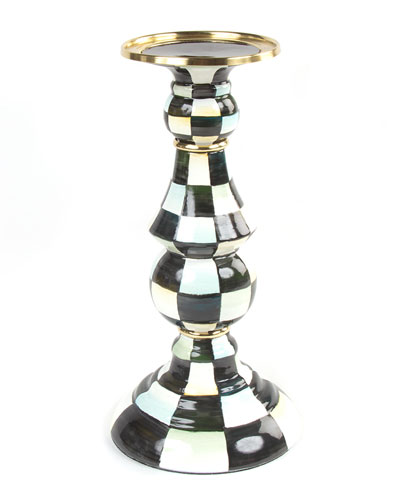 Courtly Check Large Pillar Candlestick