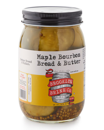 Maple Bourbon Bread and Butter Pickles